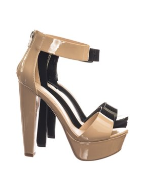 e4dc002b03 Product Image Chorus by Speed Limit 98, Retro Open Toe Two Piece Evening Block  Heel Platform Dress