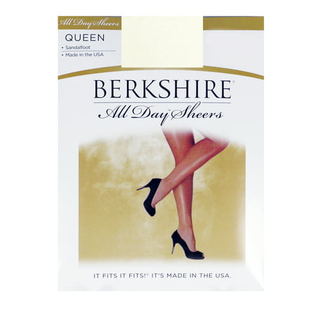 Berkshire Women's Plus-Size Queen All Day Sheer Non-Control Top Pantyhose - Sandalfoot -