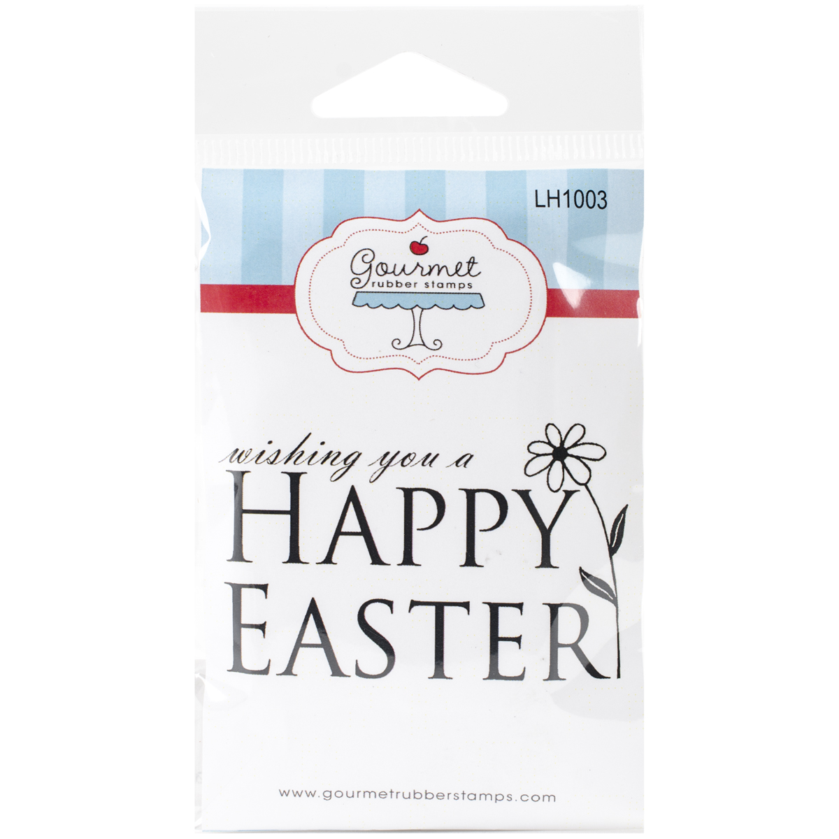 "Gourmet Rubber Stamps Cling Stamps 2.75""X4.75""-Happy Easter W/Tulip"