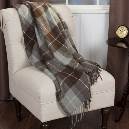 Cashmere Like Blanket Throw, Brown, 100% Acrylic By Bedford Home From USA