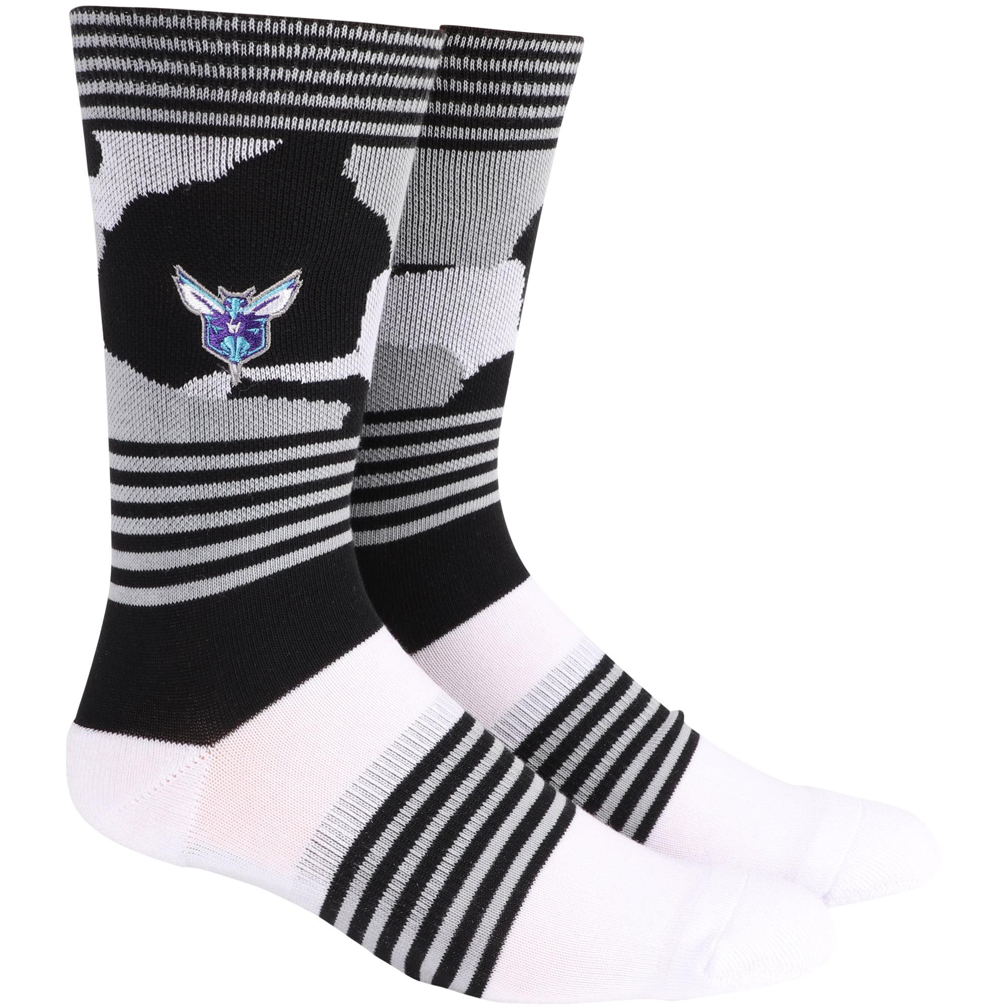 Charlotte Hornets Camo Crew Socks - L