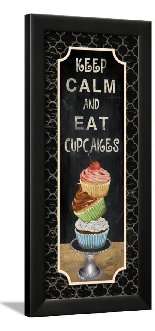 Eat Cupcakes Framed Print Wall Artwork By Piper Ballantyne by Art.com