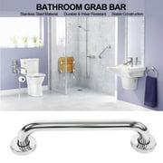 WALFRONT Stainless Steel Thicken Grab Bar Bathroom Bathtub Toilet Safety Hand Rail for Elderly Bath Shower 30cm/11.81inch