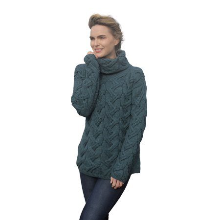 SuperSoft Merino Wool Chunky Cable Cowl Sweater ()