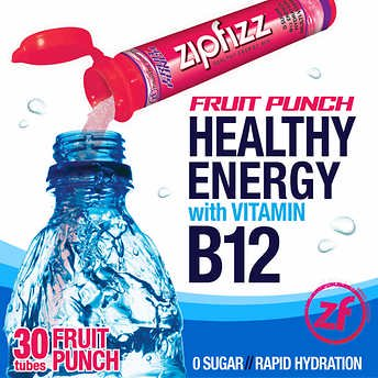 Zipfizz Healthy Energy Drink Mix, 30 Tubes Fruit Punch](Halloween Healthy Punch)