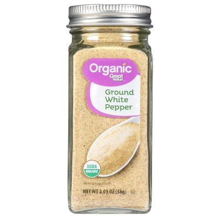 (2 Pack) Great Value Organic Ground White Pepper, 2.05 oz