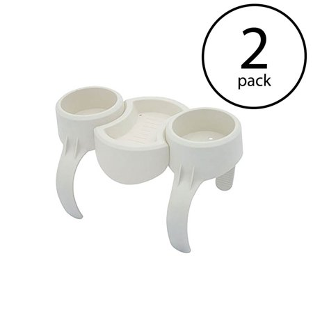Bestway Plastic SaluSpa Drinks Holder/Snack Tray for Side Accessory (2 (Best Way To Make Extra Money On The Side)