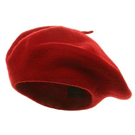 Red Beret 100  Wool French Parisian Hat