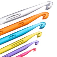 Craft County Acrylic Crochet Hook Sets - Multicolored Clear Plastic - Varying Hook Sizes 3mm-11.5mm - 2 Pack Options - Make Scarves, Hats, Clothing & Home Decor
