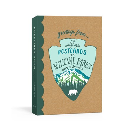 Greetings From : 24 Vintage-Style Postcards of National Parks Across -