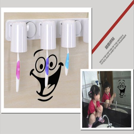 Outtop Smile Face Toilet Stickers DIY Personalized Furniture Decoration Sticker