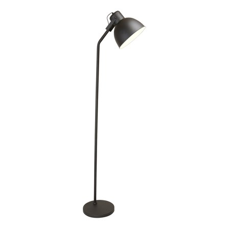 Newhouse Lighting NHFL-VE-BK Vesper Modern Standing Tall Floor Lamp for Bedroom, Living Room, Reading Light, with LED Light Bulb Included, Black ()