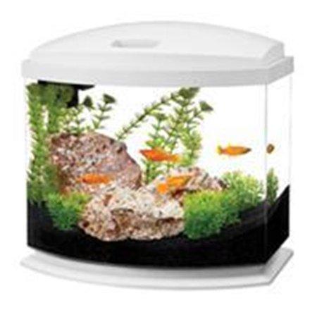 Aqueon Products-Glass-Aqueon Led Mini Bow Aquarium Kit- White 5 Gallon 17785