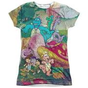 Dragon Tales Mushroom Meadow (Front Back Print) Juniors Sublimation Shirt