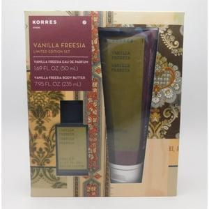 KORRES Athens Vanilla Freesia Limited Edition Set 2 Pc: Vanilla Freesia Eau De Parfum 1.69 Oz, And Vanilla Freesia Body Butter 7.95 Oz