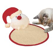 Holiday Christmas Cat Scratch Pad Toy, Santa