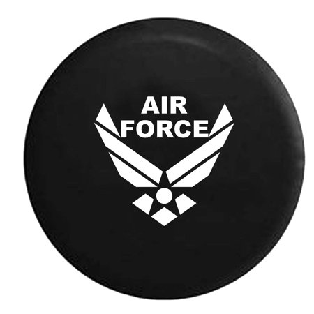 USAF Air Force Military Trailer RV Spare Tire Cover Vinyl Black 29 in