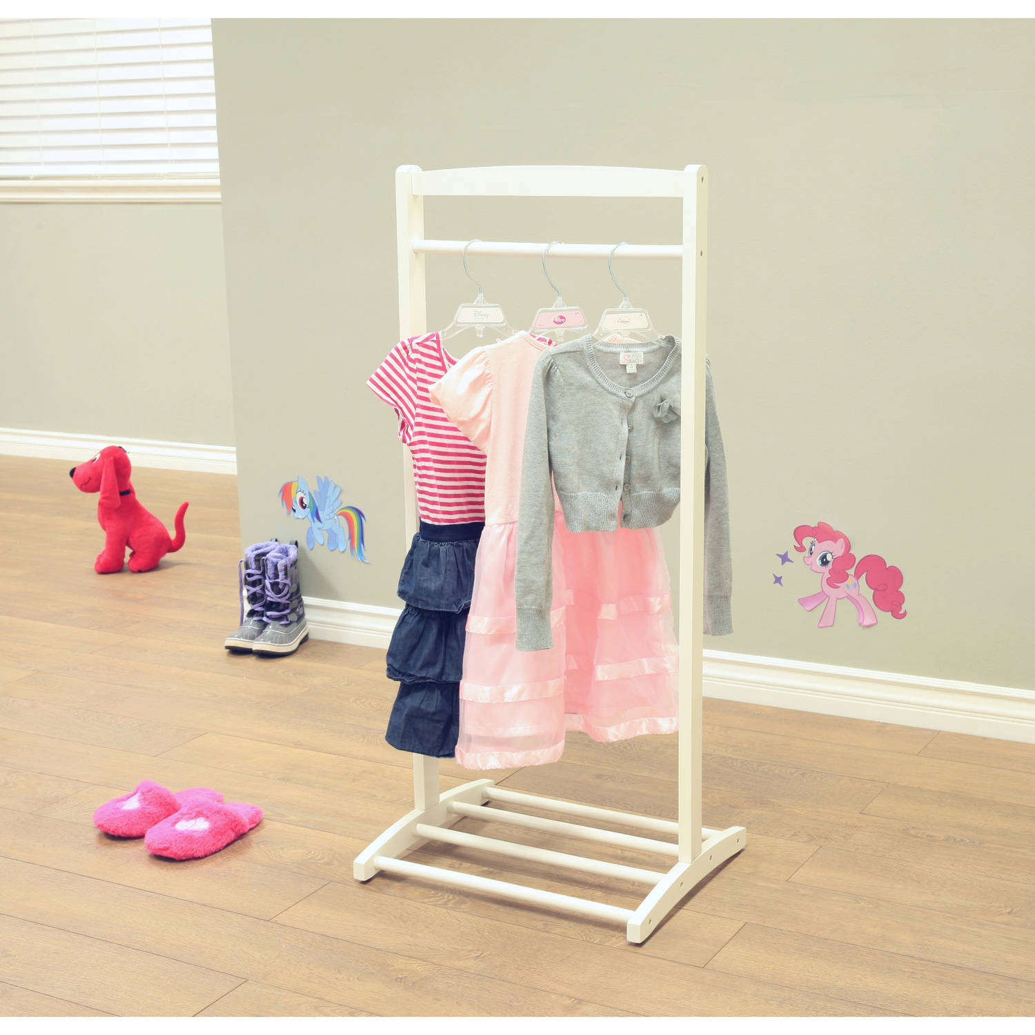 Home Craft Kids' Clothes Rack, White