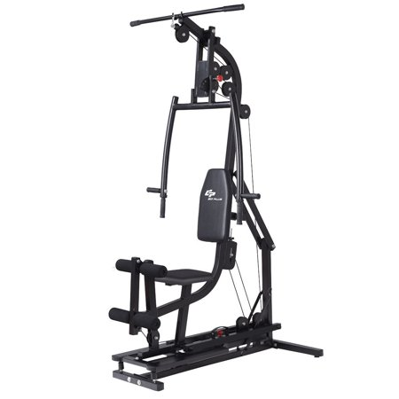 Goplus Multifunctional Home Gym Station Workout Machine Total Body Training Steel (Multi Station Home Gym)