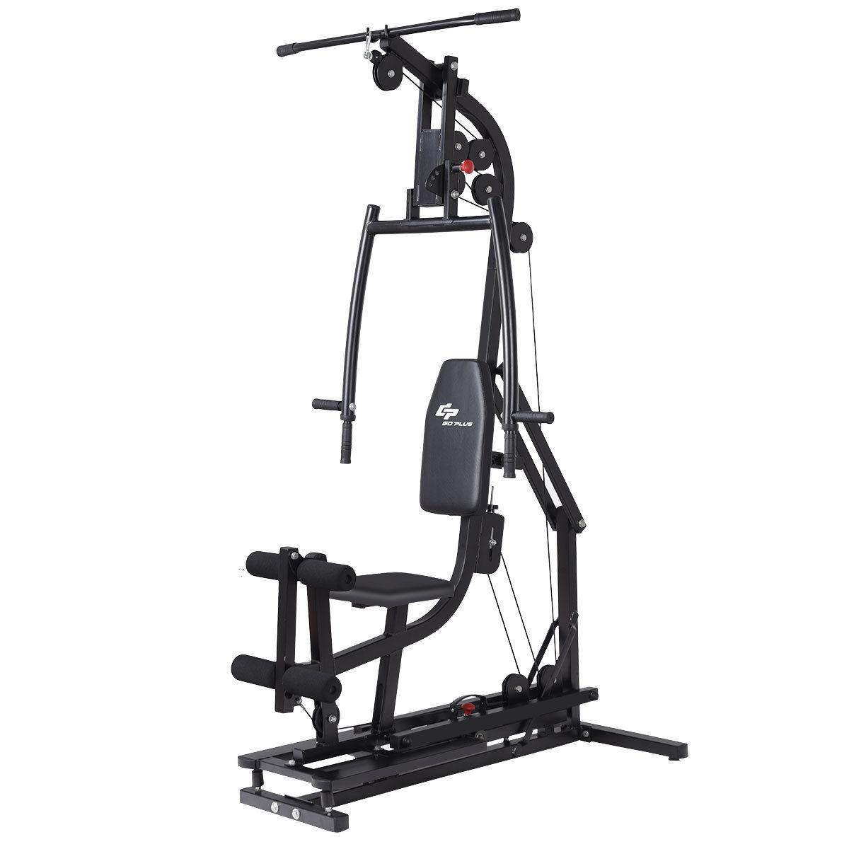 Goplus Multifunctional Home Gym Station Workout Machine Total Body Training Steel