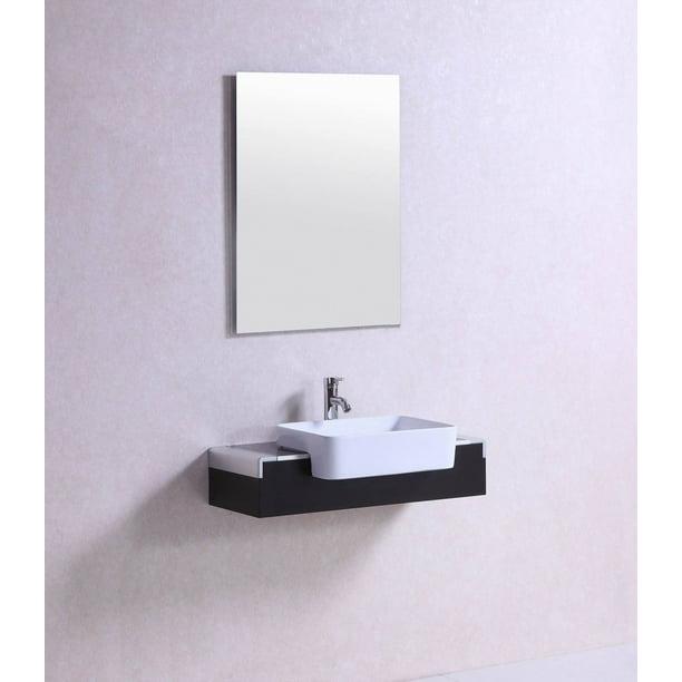 32 Inch Belvedere Modern Wall Mounted Espresso Bathroom Vanity W