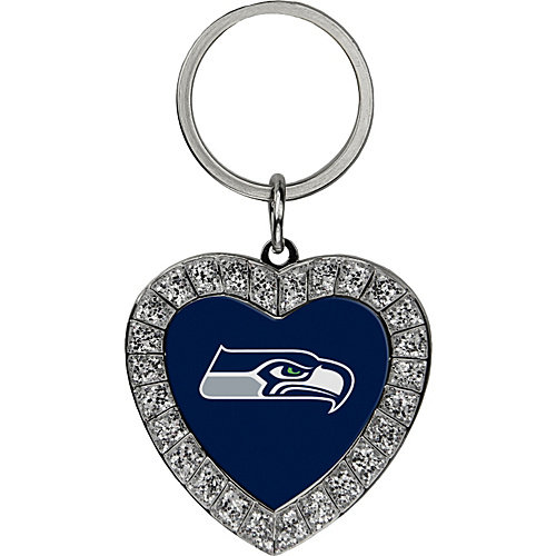Rico Industries Seattle Seahawks Bling Rhinestone Heart Keychain