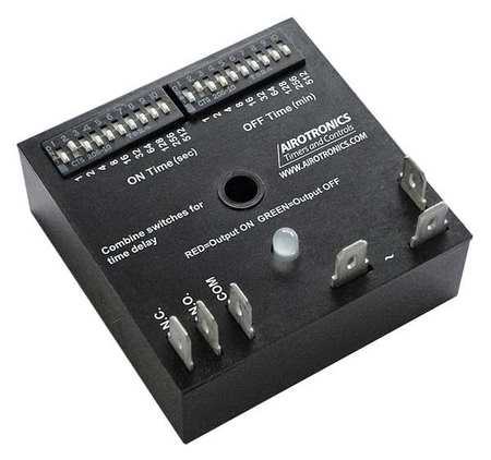 AIROTRONICS TGKAD102S3/102S3EE1HS Encapsulated Timer Relay, 102.3sec, 5 Pin