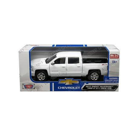 Chevrolet Silverado 1500 Winch (MOTOR MAX 1:24 W/B - MIJO EXCLUSIVES - 2017 CHEVROLET SILVERADO 1500 LT Z71 CREW CAB WHITE)