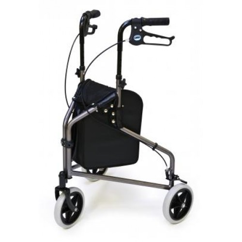 Lumex 3-Wheel Cruiser - Gray 3-Wheeled Aluminium Rollator