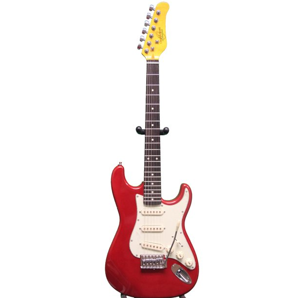 Oscar Schmidt by Washburn 3/4  Size Electric Guitar, Tremelo, Metallic Red OS-30-MRD