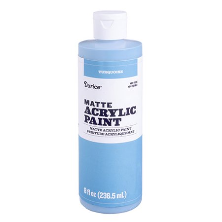 Create a faux copper vase easily with this matte acrylic paint. Add the turquoise paint in small amounts and blend it out to look like oxidized