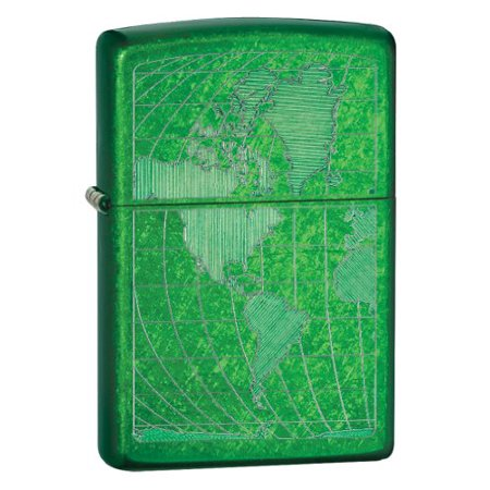 Zippo Meadow Ice World Lighter, Green