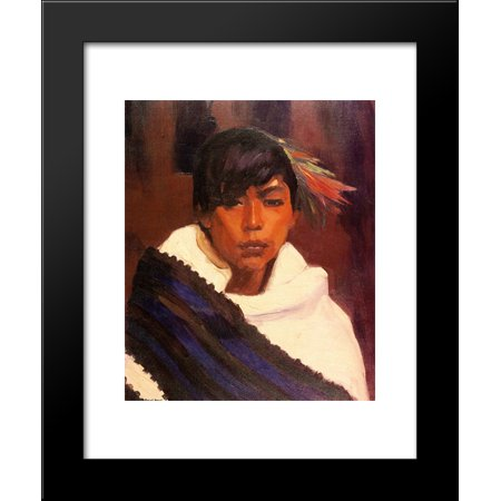 Ricardo, Indian of San Ildefonso 20x24 Framed Art Print by Robert Henri