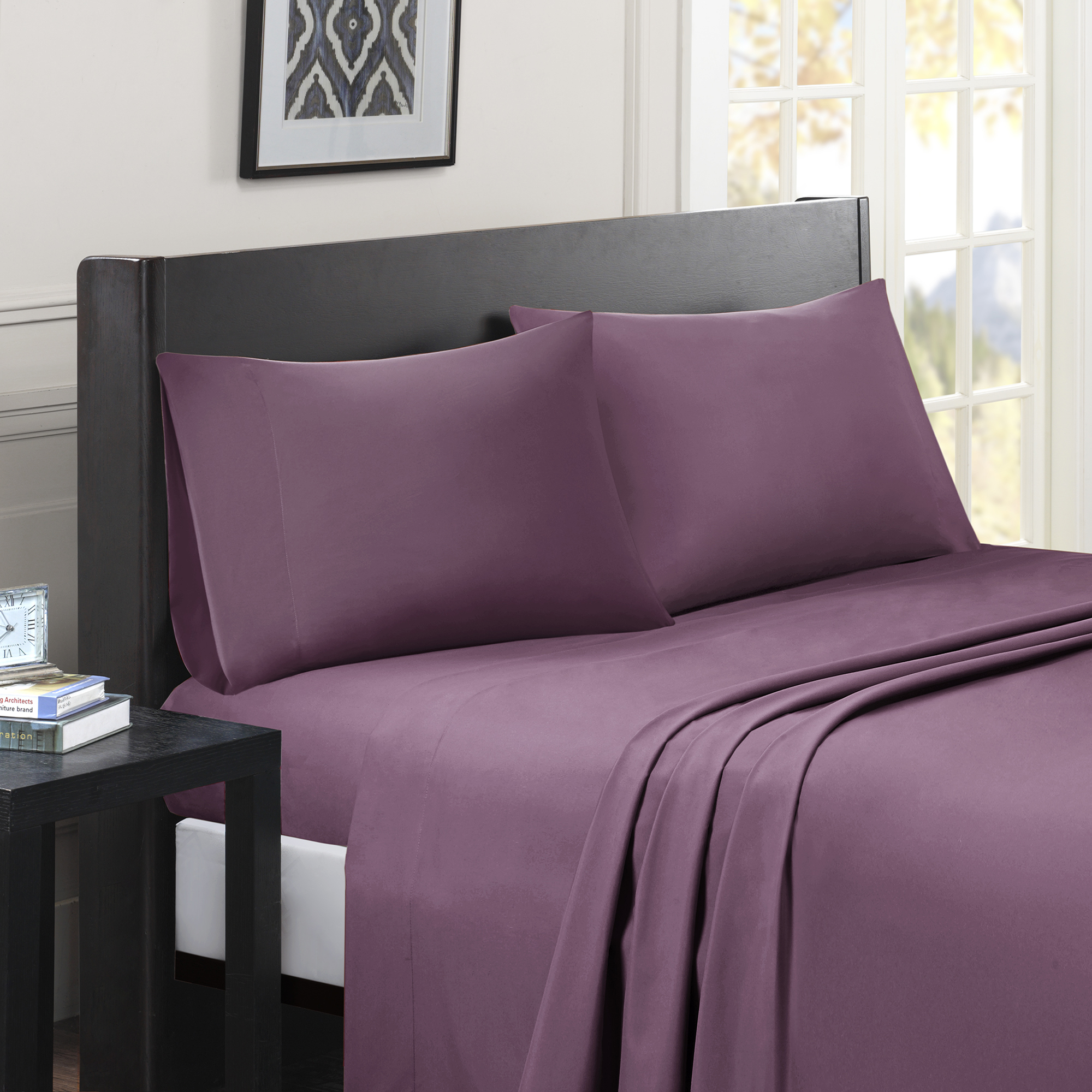 Comfort Classics Micro Splendor Solid Colored Sheet Set