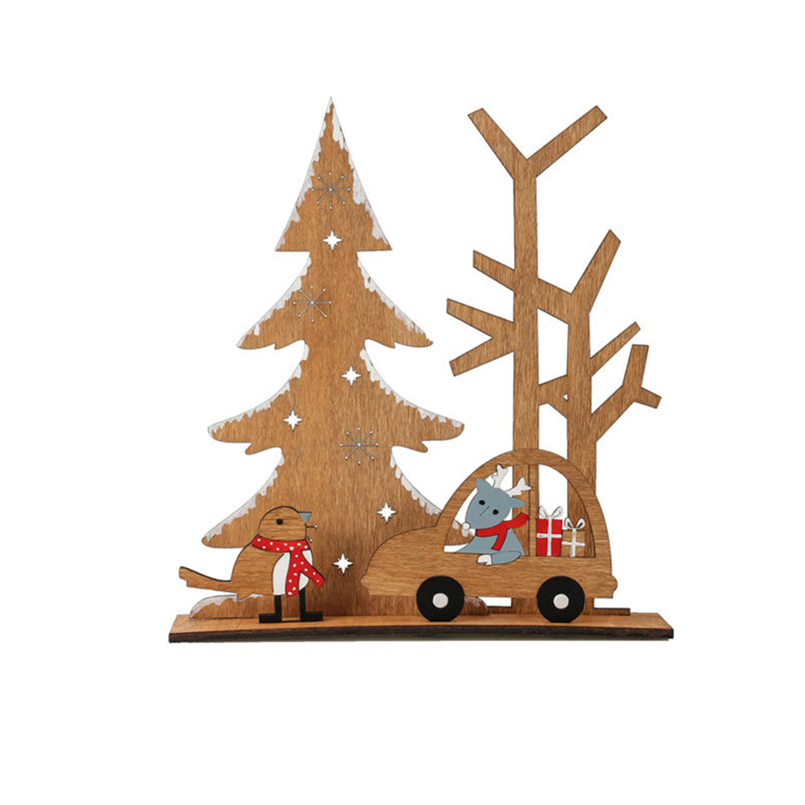 Details about  /Xmas Tree Wooden Ornaments Table Decoration Merry Christmas Christmas Ornament