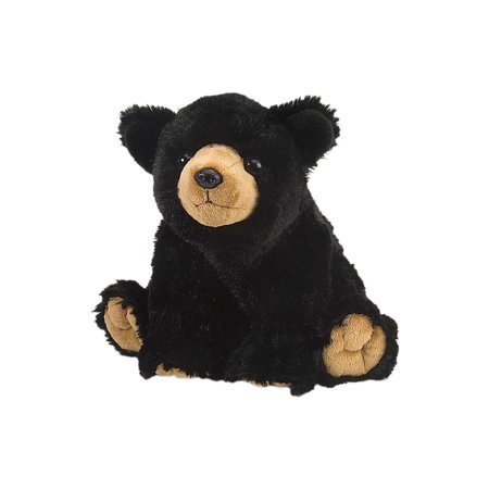 Cuddlekins Black Bear Plush Stuffed Animal by Wild Republic, Kid Gifts, Zoo Animals,12