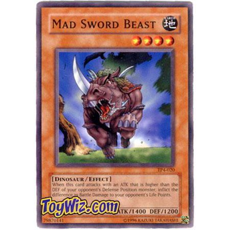 YuGiOh Tournament Pack 4 Mad Sword Beast - Tournament Pack 4 Singles