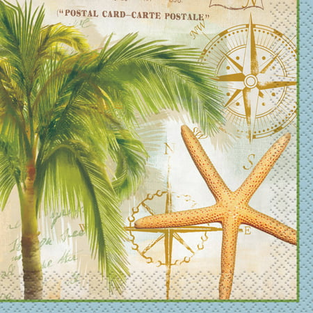 Tropical Travel Summer Cocktail Napkins, 24ct](Tropical Napkins)