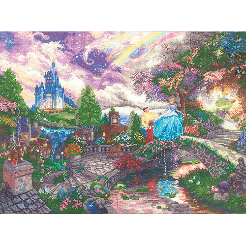 "Disney Dreams Collection By Thomas Kinkade Cinderella Wishes, 16"" x 12"""
