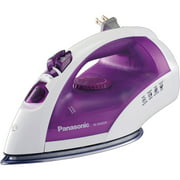 Panasonic Steam Circulating Iron and Vertical Steamer with Curved, Non-Stick Stainless Steel Soleplate in Violet/White