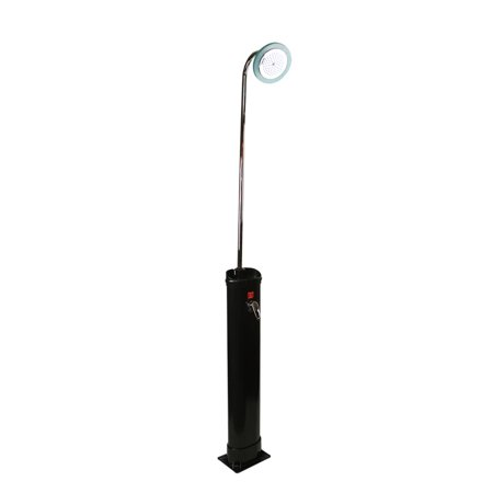 18 Liter LED Lighted Black Eco-Friendly Solar-Powered Poolside Shower Station 85