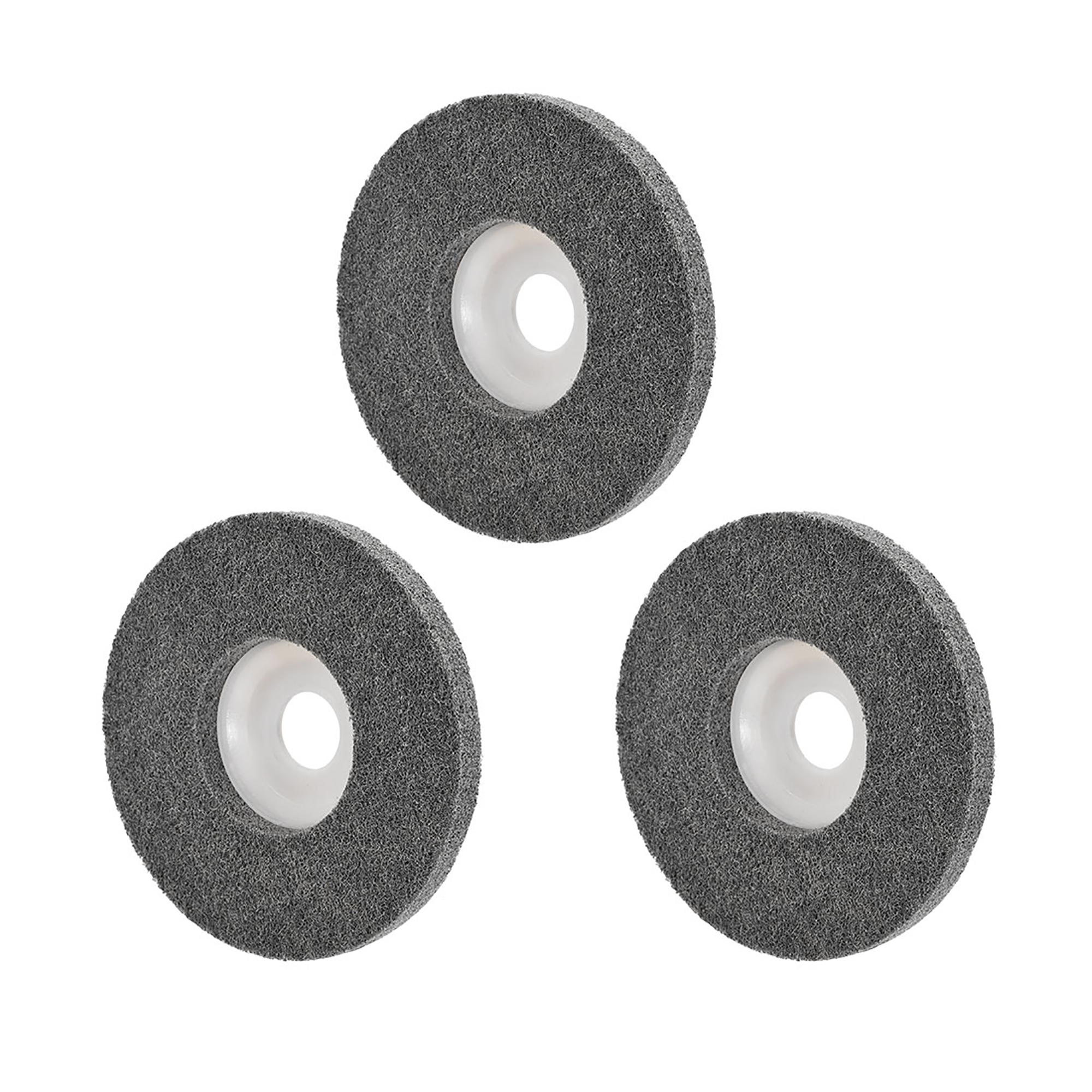 5 Inch Polishing Wheel Buffing Pad Felt Disc for 100 Angle Grinders Red 2pcs