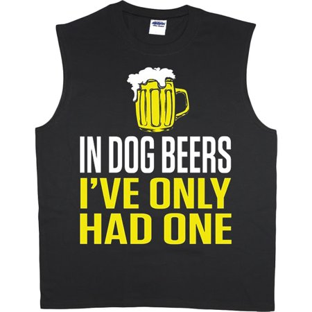 Funny dog beer t-shirt sleeveless t-shirt muscle tee for - Funny Muscle Shirt