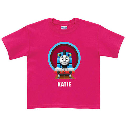 Personalized Thomas & Friends Hot Pink Tunnel Girls' T-Shirt