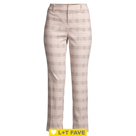 Kelly High-Rise Plaid Ankle Pants