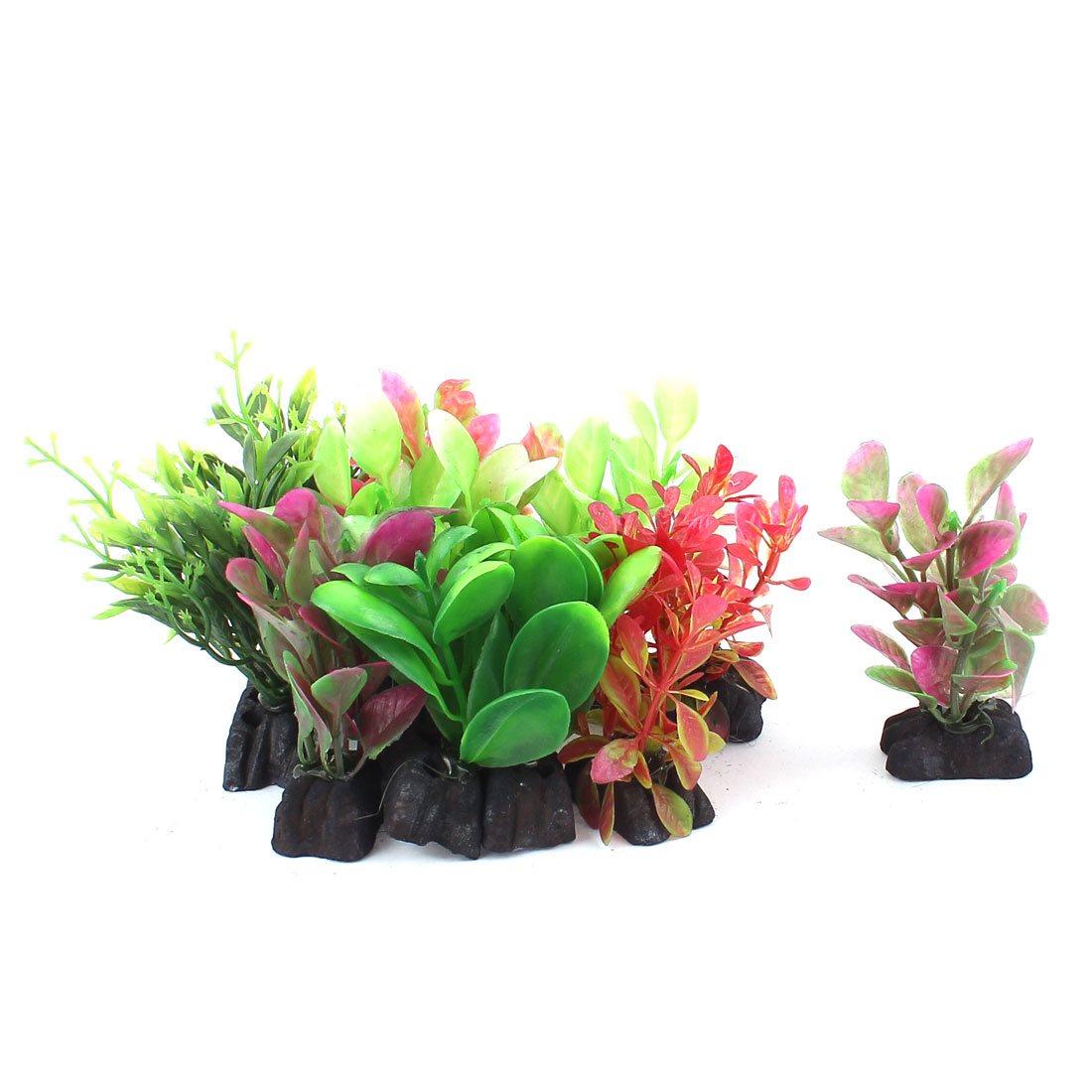 Unique Bargains Plastic Simulation Aquascaping Underwater Grass Decor Aquarium Plant 12PCS by