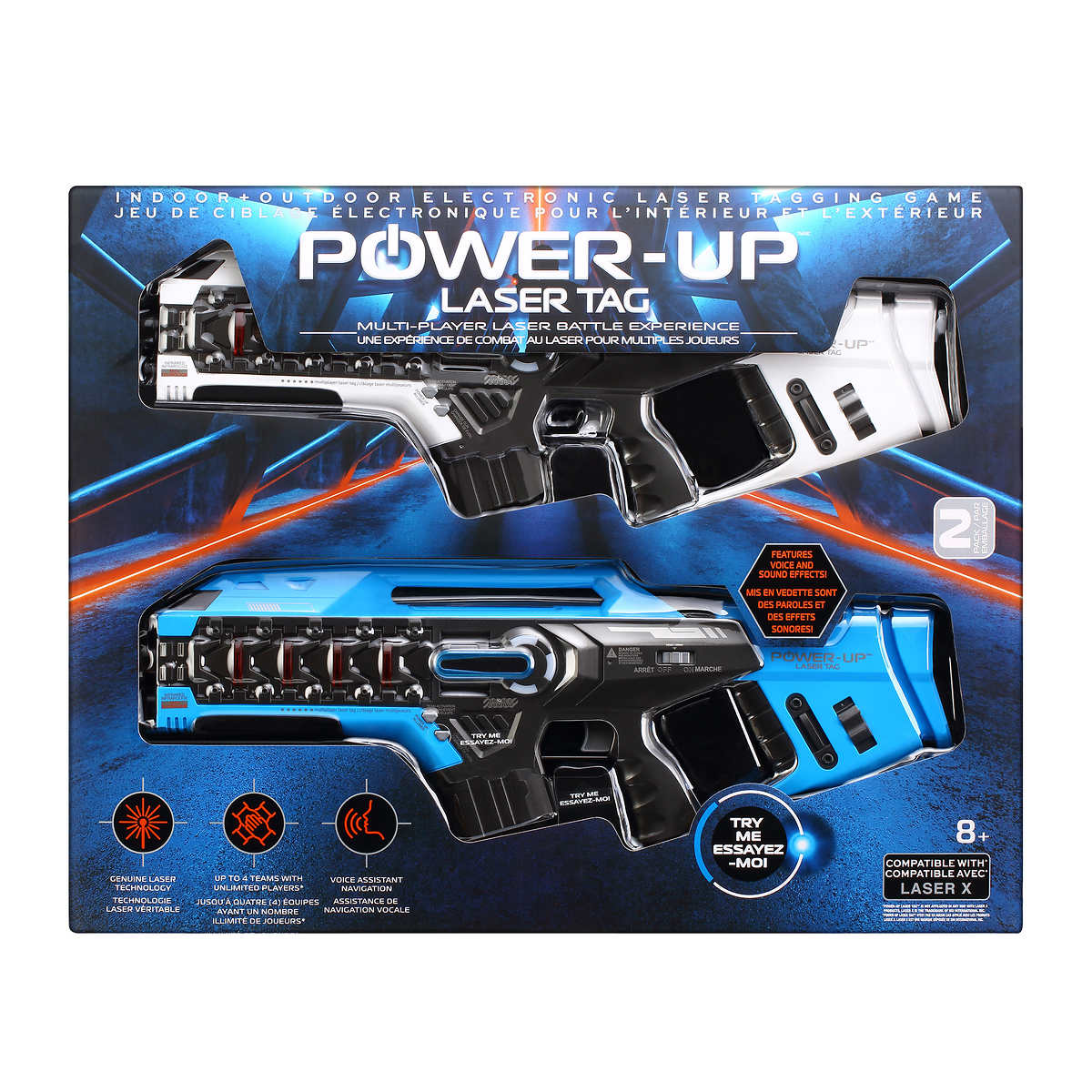 Power Up Multi-Player Laser Battle Experience 2 players