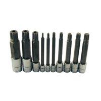 Atd Tools ATD-13781 Extra Long Triple Square Spline Bit Socket Set, 10 Pc.