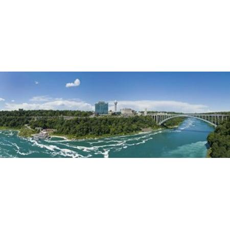 Arch bridge across a river Rainbow Bridge Niagara River Niagara Falls Ontario Canada Canvas Art - Panoramic Images (15 x 6)