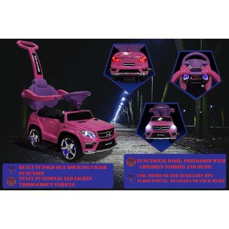 Kids Pink Licensed Mercedes Kid Ride On Toy Push Car